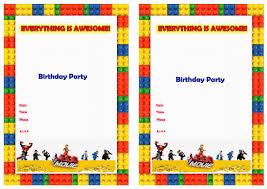 Birthday Invitation Cards Models Lego Birthday Invitations Redwolfblog Com