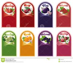 set of labels for jam stock vector image of label decoration