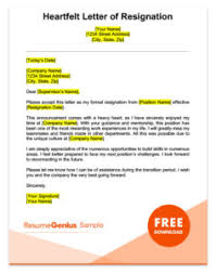 resignation letter samples free downloadable letters of resignation