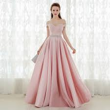 light pink graduation dresses light pink prom dress off shoulder sleeves evening dress