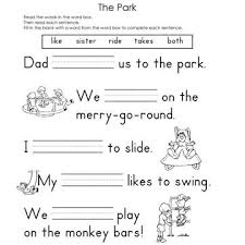 fill in the blank worksheets worksheets sentences and activities