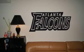 wall decals stickers home decor home furniture diy atlanta falcons logo emblem nfl wall art sticker decal 002