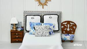 how to make a bed headboard how to make a tiny padded headboard for a bed youtube