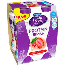 dannon light and fit yogurt drink dannon light fit strawberry protein shake 10 fl oz 4 count