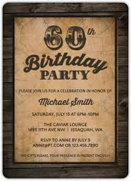 vintage woodgrain 60th birthday invitation 60th birthday invitations