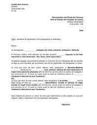 lettre de fã licitation mariage lettre de demande à un huissier de signifier une assignation au