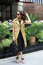 Meghan Markle Blog by Actress Meghan Markle In Veronica Beard Trench Vest Veronica