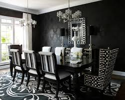 Contemporary White And Black Modern Dining Room Sets Chairs Cheap - Dining room tables black
