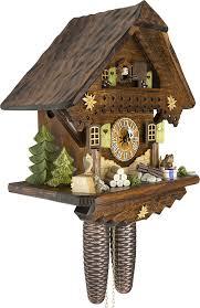 Authentic Cuckoo Clocks Amazon Com German Cuckoo Clock Summer Meadow Chalet By Cuckoo