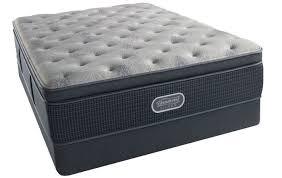 simmons beautyrest silver comfort gray plush pillow top queen