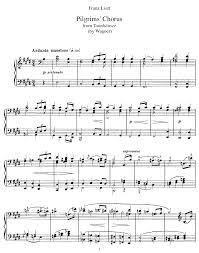 pilgerchor aus tannhäuser s 443 liszt franz imslp petrucci