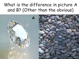 The Way A Mineral Reflects Light Minerals What Is The Difference In Picture A And B Other Than