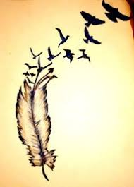 feather tattoo with birds tattoo collections
