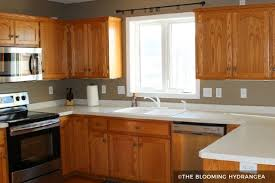 kitchen colors with medium brown cabinets painting kitchen cabinets before after
