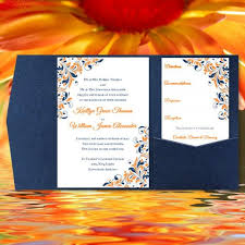diy pocket wedding invitations diy pocketfold wedding invitations kaitlyn orange navy blue