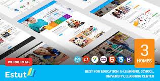 design online education estut education wordpress theme material design online course