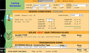 Hvac Load Calculation Spreadsheet by Right Commload Ashrae Commercial Load Calculation