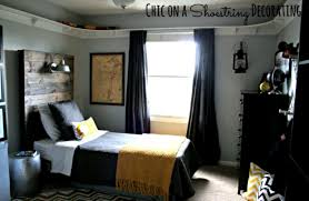 bedroom small teen boy bedroom ideas with tufted bed and swing
