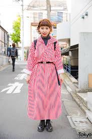 harajuku in resale striped dress u0026 rucksack w dr martens