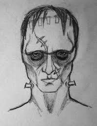 sketch drawing illustration frankenstein monster scary