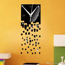 2016 sale new watch gift black 3d modern wall art acrylic quartz