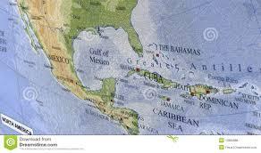 Map Mexico by Haiti Cuba Caribbean Map Mexico Travel Royalty Free Stock