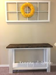 Under Sofa Tables by How To Build A Sofa Table For Only 30 Keeping It Simple Crafts