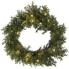 pre lit boxwood wreath 20 in 26 liked on polyvore