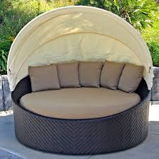 Cheap Daybed Outdoor U0026 Landscaping Interesting Circle Gray Fabric Seat Feat