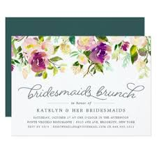 bridesmaids invitations bridesmaid vibrant bloom bridesmaids brunch invitation