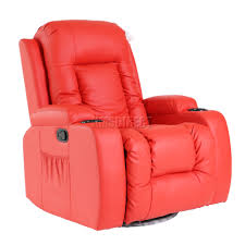 Swedish Leather Recliner Chairs Foxhunter Leather Massage Cinema Recliner Chair Sofa Swivel