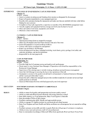 supervisor resume templates cafe supervisor resume sles velvet