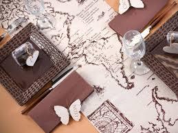 mariage voyage mariage voyage chemin de table voyage en coton