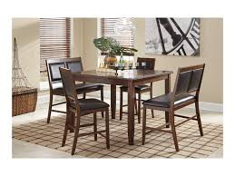 signature design by ashley meredy 5 piece dining room counter