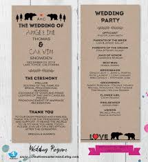 Wedding Ceremony Programs Diy 22 Best Diy Wedding Program Templates Images On Pinterest