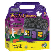 Kids Halloween Craft Kits by Creativity For Kids Create With Clay Haunted House Halloween