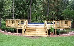 above ground swimming pool deck designs brilliant above ground