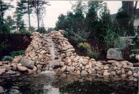 garden creative garden pond with natural stone waterfall design