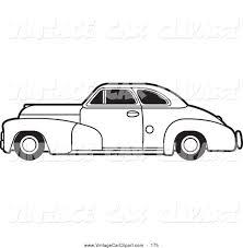 royalty free coloring sheet stock vintage car designs
