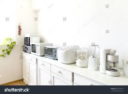 japan kitchen small cooking appliances lined stock photo 227987371