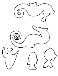 fish outline coloring page seahorse template pdf craft ideas pinterest seahorses