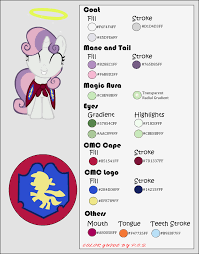color guide sweetie belle by midnightblitzz on deviantart