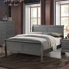 Grey Sleigh Bed Copper Grove Mascoma Paneled Grey Sleigh Bed Free Shipping Today