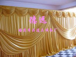 wedding backdrop on stage aliexpress buy 3x6m gold wedding backdrop background drapes