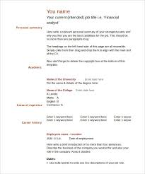 Ms Word Resume Template Free Blank Resume Templates For Microsoft Word 40 Blank Resume