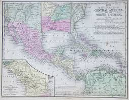 Mexico And Central America Map by Map Of Mexico And Central America 1854