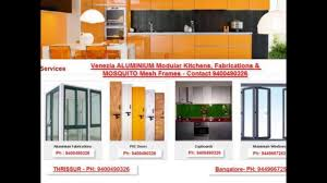 thrissur hand rails kitchen cabinets aluminium fabrication