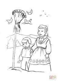christmas in norway coloring page free printable coloring pages