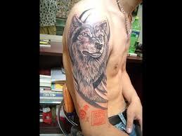tribal wolf half sleeve tattoos wolf images designs