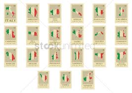 Italy Cities Map by Set Of Italian Cities Map Postal Stamps Vector Image 1583612
